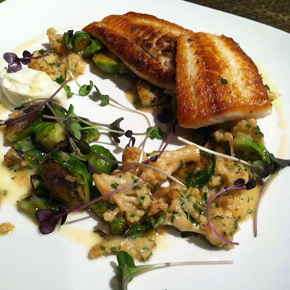 Fluke With Roasted Cauliflower And Brussels Sprouts - Waterfront Kitchen, Baltimore, MD