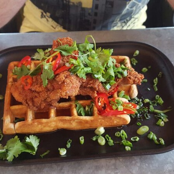 Fried Chicken And Waffle - Drake Devonshire Inn, Wellington, ON