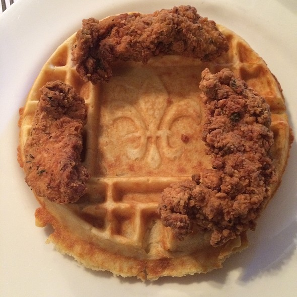 Chicken and Waffles - Jolie's Louisiana Bistro, Lafayette, LA