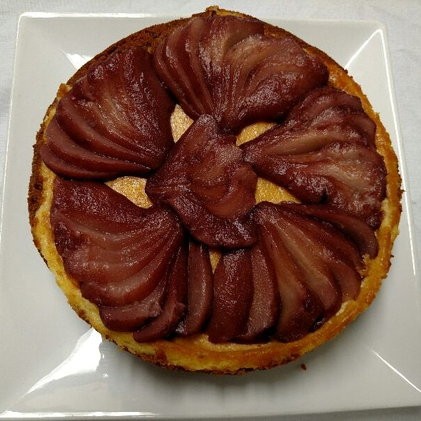 Red Wine Pear Tart - DiGiorgio's Cafe Largo, Key Largo, FL