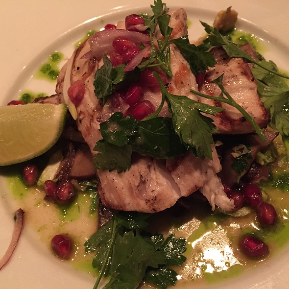 Mahi With Pomegranites On Shaved Brussel Sprouts - Cowell & Hubbard, Cleveland, OH