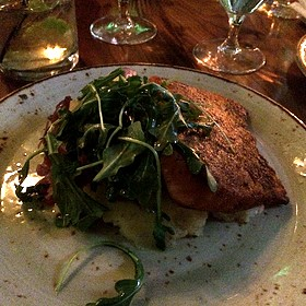 Pan Seared Atlantic Salmon - Stars Restaurant - Rooftop & Grill Room, Charleston, SC