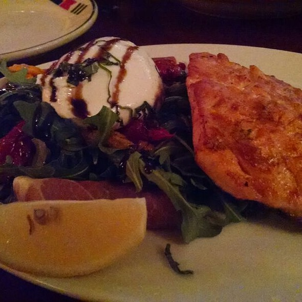 Burrata Salad With Salmon - East Bay Grille, Plymouth, MA