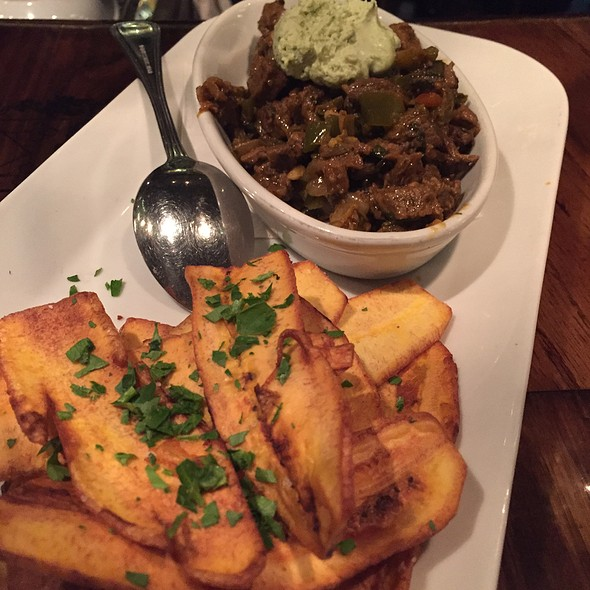 Ny Strip Dip With Peppers And Plantain Chips - La Boca Steakhouse, New Orleans, LA