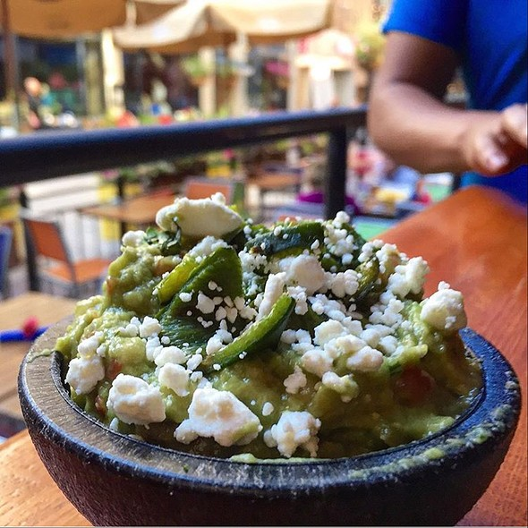 Goat Cheese Poblano Guacamole - Zocalo Cleveland, Cleveland, OH