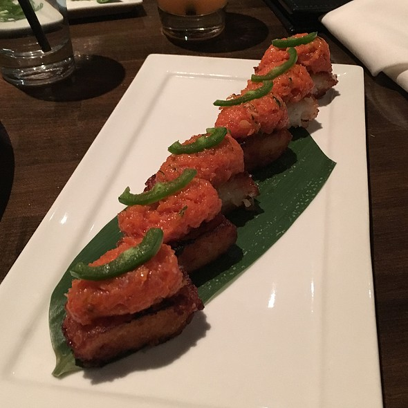 Crispy Rice with Spicy Tuna - Koi Restaurant and Lounge, Las Vegas, NV