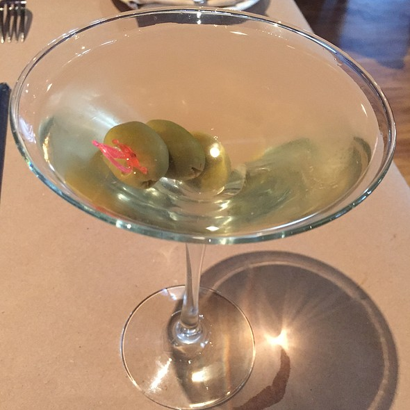 Filthy Dirty Martini - Luce Ristorante E Enoteca, San Antonio, TX