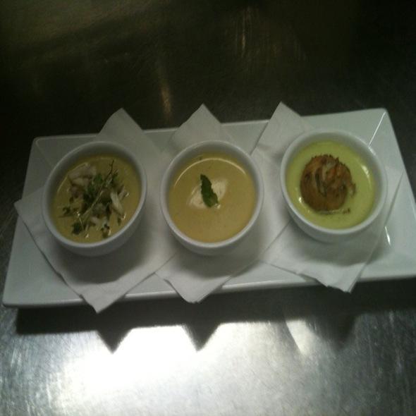 Trio Of Chilled Vegetable Soups - Domaine Hudson, Wilmington, DE