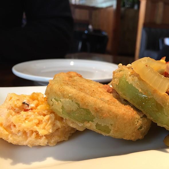 Fried Green Tomatoes And Pickled Okra - Amen Street Fish + Raw Bar, Charleston, SC