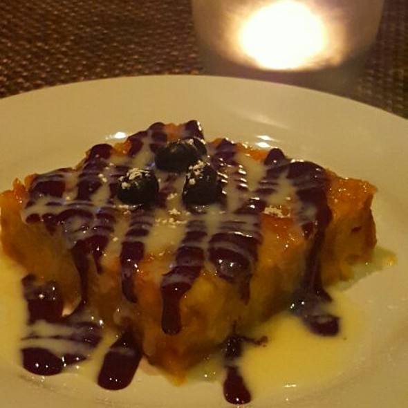 Breadpudding With Blueberry Sauce - Green Street Tavern, Pasadena, CA