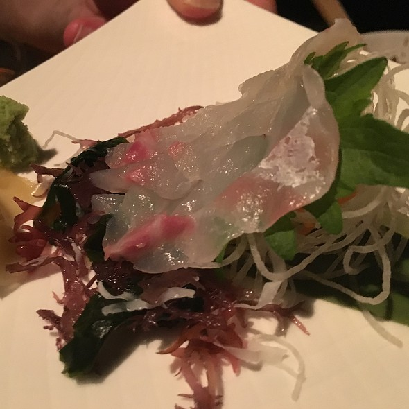 Red Snapper Sashimi - Umami, San Francisco, CA