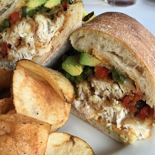 Grilled Mahi W Avocado N Grilled Peppers On Ciabatto Bread - Bahrs Landing, Highlands, NJ