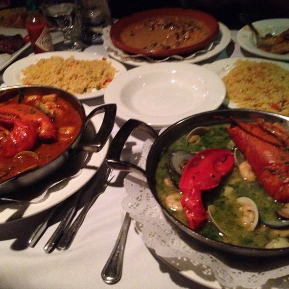 Seafood Stew, Red & Green Sauce - Adega Grill, Newark, NJ