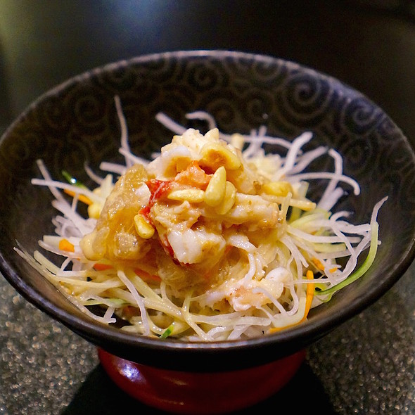 Julienned vegetables, king crab, jelly fish salad, sesame dressing, pine nuts - Hakubai - The Kitano, New York, NY