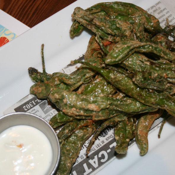 Salt and Vinegar Fried Shishito Peppers - South Edison, Montauk, NY