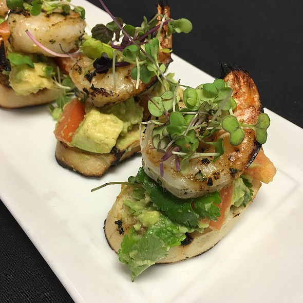 Shrimp And Avocado Bruschetta - Nix / Martini Bar - Knickerbocker Hotel, Chicago, IL