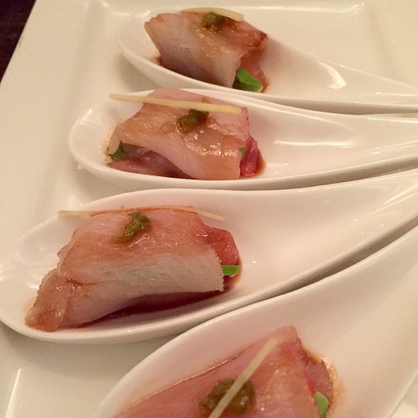 Grapefruit And Hamachi With Avocado And White Truffle Ponzu - Nobuo at Teeter House, Phoenix, AZ