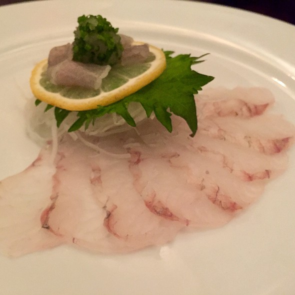 Fluke Sashimi With Ponzu - Nobuo at Teeter House, Phoenix, AZ