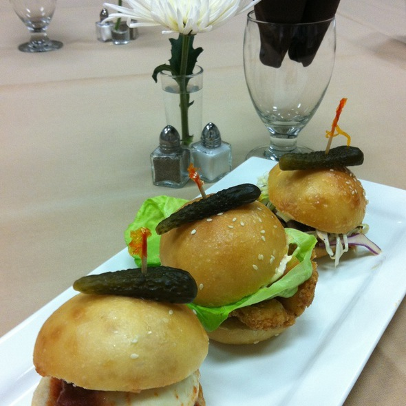Shrimp Po Boy, Italian Meatball And Pulled Pork Sliders - Chefs di Domani, Oklahoma City, OK