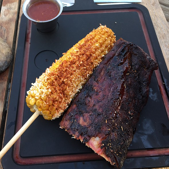 Beef Ribs & Mexican Corn - Woodshed Smokehouse, Fort Worth, TX