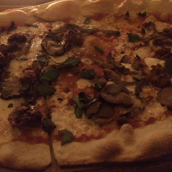 Sausage And Mushroom Pizza - Little Dom's, Los Angeles, CA