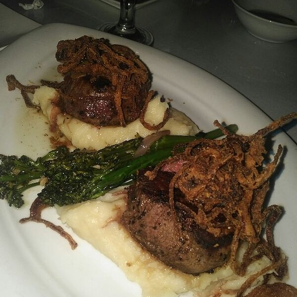 Twin Filet Medallians With Porchini Mushroom Sauce Over Papperdelle - Sullivan's Metropolitan Grill, Anderson, SC