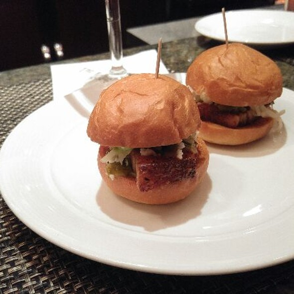 Pork Belly Sliders - The Firehouse Restaurant, Sacramento, CA