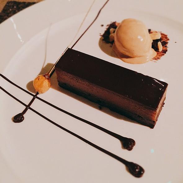 Chocolate Brownie, Peanut Butter Ganache, Salted Caramel Ice Cream, Hazelnuts - Angels with Bagpipes, Edinburgh
