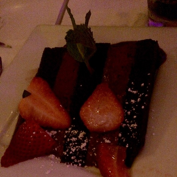 Traditional Chocolate Cake - Sur Restaurant, West Hollywood, CA