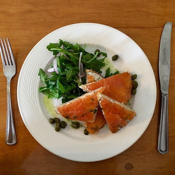 Smoked Salmon, Capers And Arugula - Cru Cafe, Charleston, SC