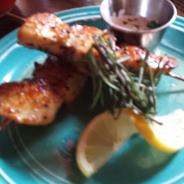 chicken skewers - Santiago's Bodega, Key West, FL