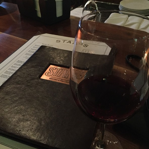 Peregrine Ranch Pinot Noir Wine - Stars Restaurant - Rooftop & Grill Room, Charleston, SC