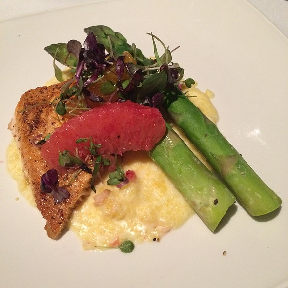 Salmon With Smoked Gouda Polenta - Bob's Steak and Chop House - Omni Tucson National Resort, Tucson, AZ