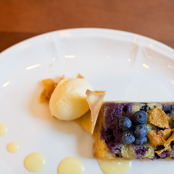 Blueberry Polenta Cake - Bedford Village Inn, Bedford, NH