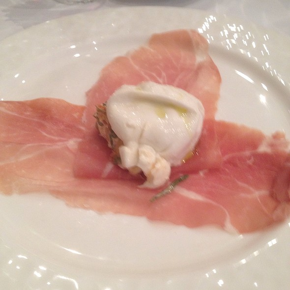 Buratta Stuffed With Pine Nuts On Proscuitto - Trattoria L'incontro, Astoria, NY