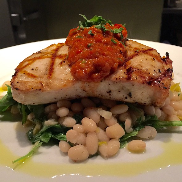 Swordfish On White Bean And Fennel ( With Romesco Sauce) - Crow, Seattle, WA