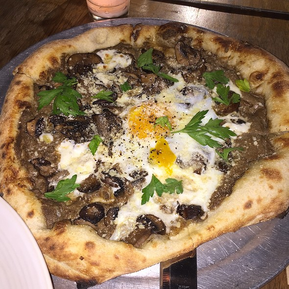 Baked Egg Pizza - Osteria La Buca, West Hollywood, CA