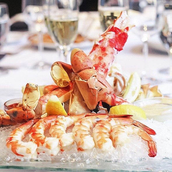 Crab Legs, Lobster Tail And Shrimp Platter - Del Frisco's Double Eagle Steak House - Chicago, Chicago, IL