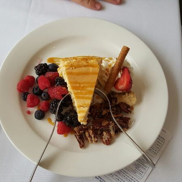 Praline Cheesecake With Fresh Berries - Skylon Tower Revolving Dining Room, Niagara Falls, ON