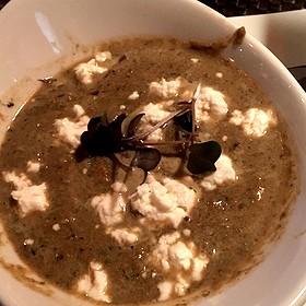 Artichoke Caper Soup W/Goat Cheese - Revolution Grille, Toledo, OH