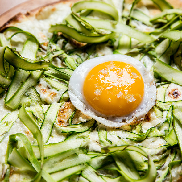 Asparagus Pizza - Scala's Bistro, San Francisco, CA
