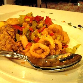 Pan Fried Calamari With Hot Cherry Peppers - The Capital Grille - Houston, Houston, TX