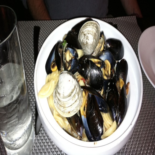 Clams And Mussels With Bacon And Onion Over Orchiette Pasta - Lattitude (West Springfield, Massachusetts), West Springfield, MA