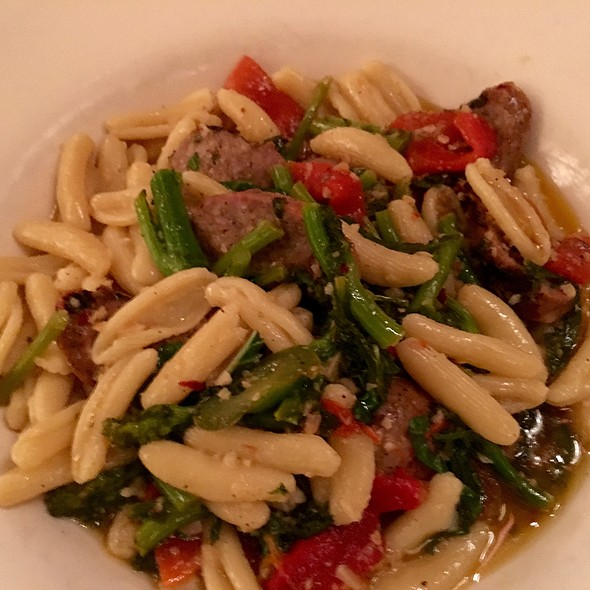 Cavatelli Pasta, Italian Sausage, And Broccoli Rabe - Panza, Boston, MA