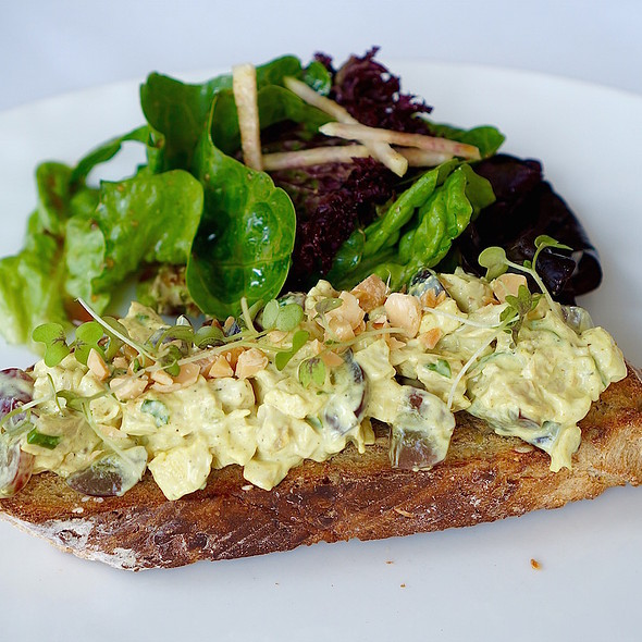 Curried Chicken Salad Tartine - Naha, Chicago, IL