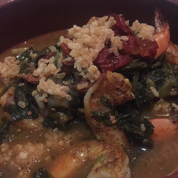 Shrimp With Callaloo - Herbsaint, New Orleans, LA