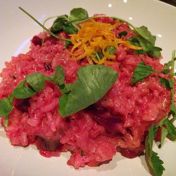 Roasted Beet Risotto - Meriwether's Restaurant & Skyline Farm, Portland, OR