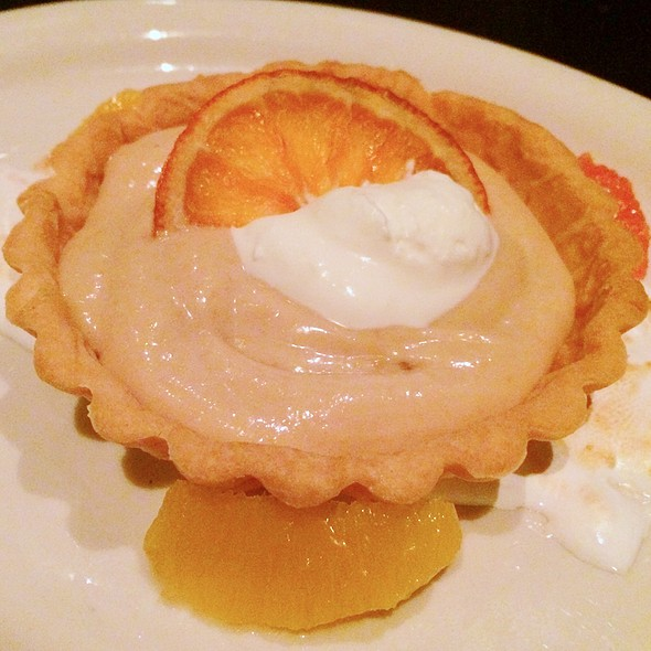 Blood Orange Tartlette - Meriwether's Restaurant & Skyline Farm, Portland, OR