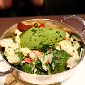 Maine Lobster Egg White Scramble - The Back Room at One57, New York, NY