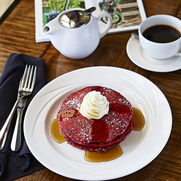 Red Velvet Pancakes - Cobalt Restaurant and Lounge - Vero Beach Hotel and Spa, Vero Beach, FL